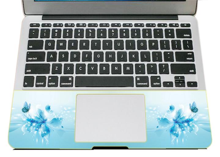 Miếng Dán Trang Trí Mặt Ngoài + Lót Tay Laptop Hoa Văn LTHV - 388
