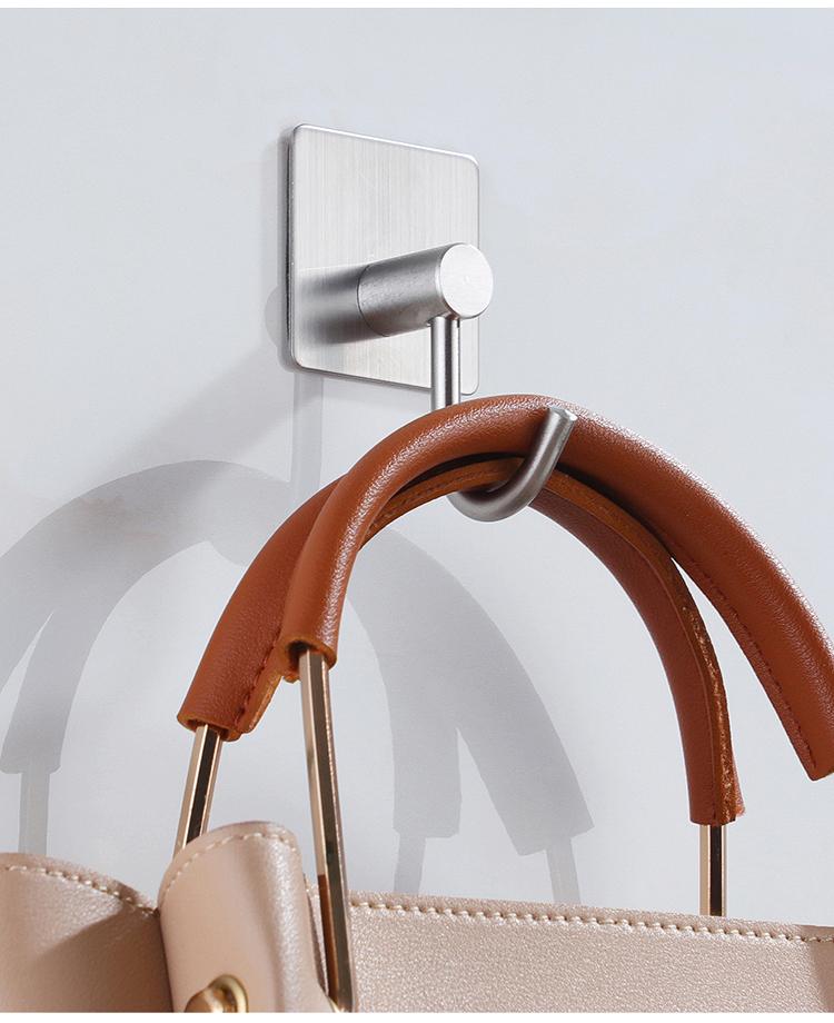 Combo 3 móc treo loại D, Inox 304, SUS304 dùng miếng dính dán tường không cần khoan, xắp xếp treo đồ đạc gọn gàng, tiết kiệm không gian, đồ dùng gia đình, nhà bếp, Dan House 311-D
