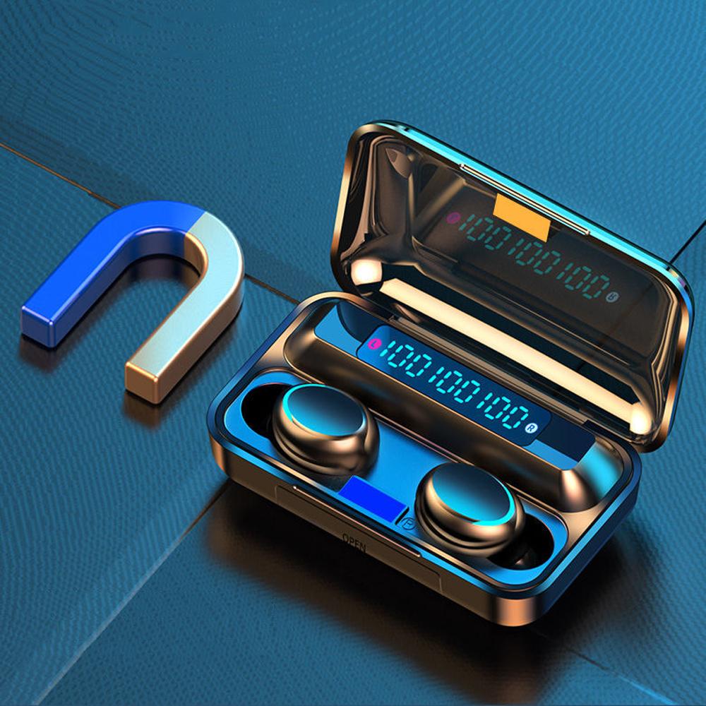 Tai nghe bluetooth F9, tai nghe không dây cảm ứng kết nối nhanh chóng ổn định, công nghệ chống ồn CVC8.0, dung lượng pin khủng có thể sạc cho điện thoại- Hàng nhập khẩu
