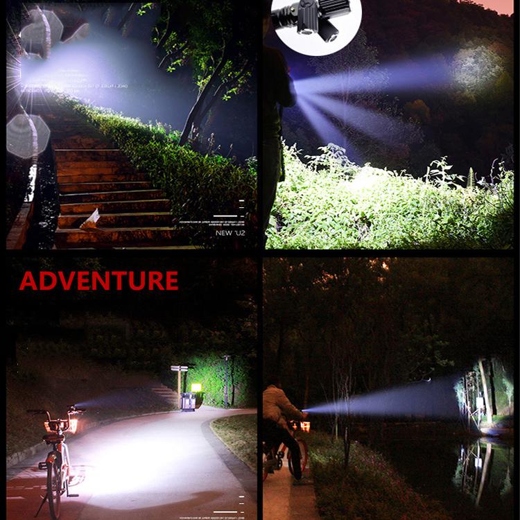 Đèn pin cầm tay siêu sáng 3 bóng - Xoay 360