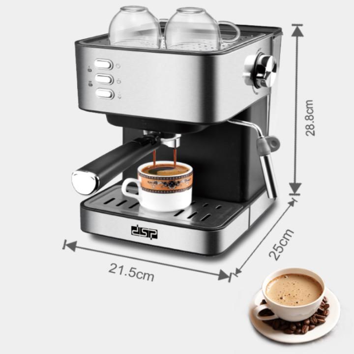 Máy pha cà phê đa năng cao cấp thương hiệu DSP KA3028 - Công suất:  850W - Chất liệu: Thép không gỉ + Nhựa ABS - Trọng lượng: 4,43kg - Hàng Nhập Khẩu