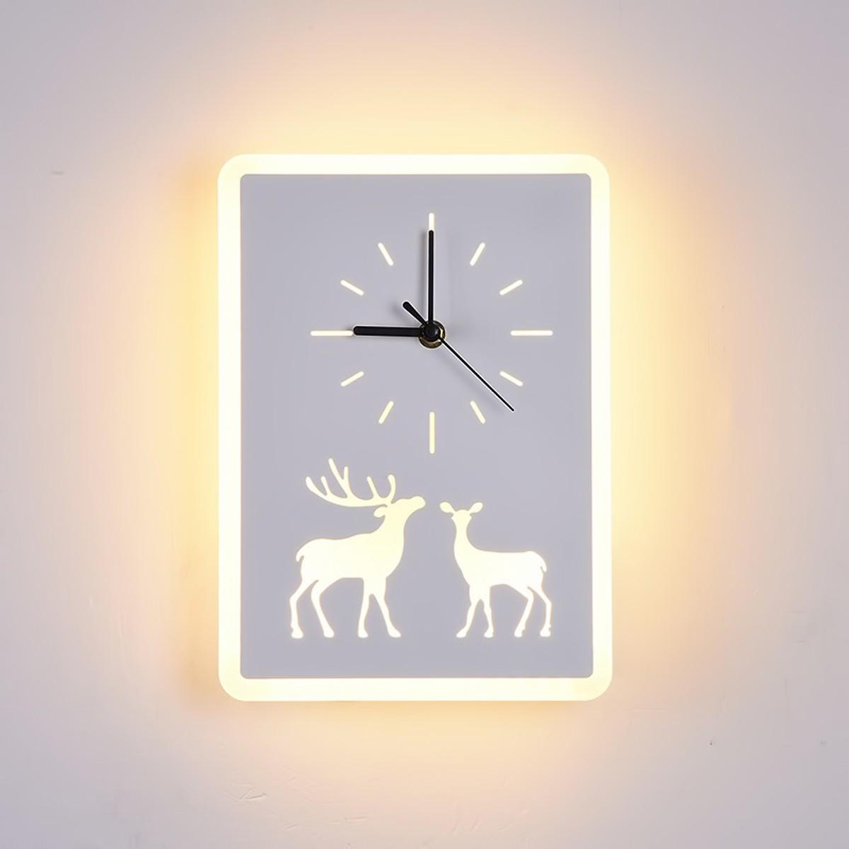 Đèn LED đồng hồ DEER hiện đại