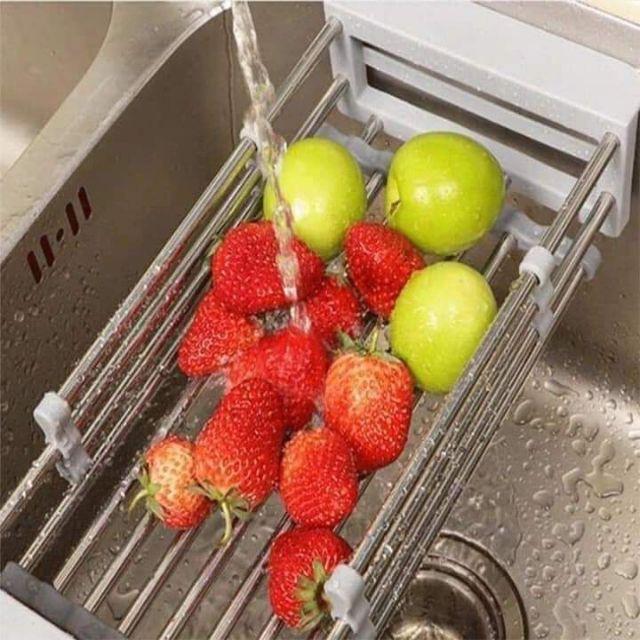 Rổ rút gọn đa năng gác bồn rửa
