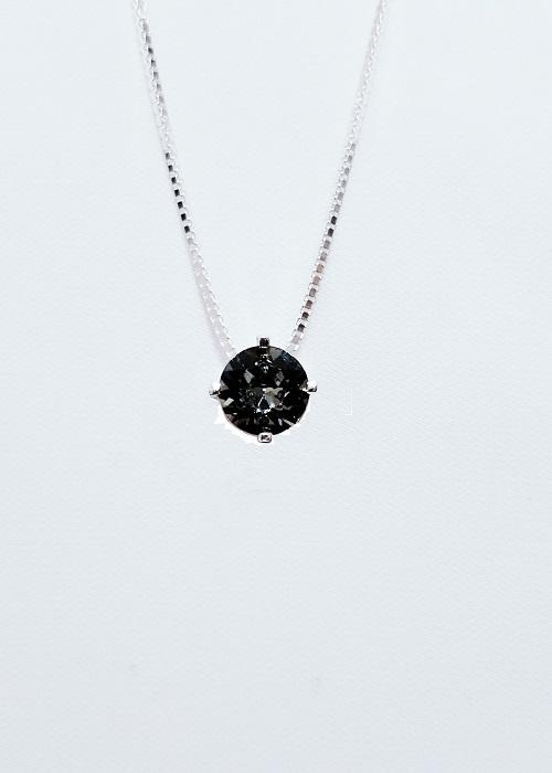 Dây Chuyền Bạc Thật 100 italy s925 Keely Valda pha lê Swarovski Black Diamond