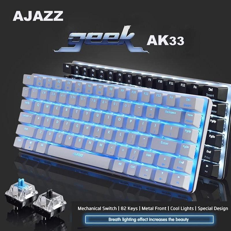 Bàn phím cơ mini gaming GEEK AK33W Chống ồn - Hàng nhập khẩu