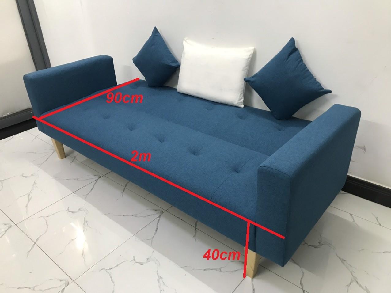 Ghế dài 2mx90 sofa bed tay vịn phòng khách linco06 sopha salon