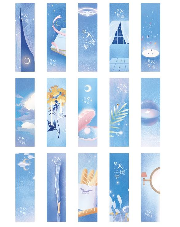 Hộp 30 Bookmark Đánh Dấu Sách Giấc Mơ Huyền Ảo - Viên Ngọc Trai