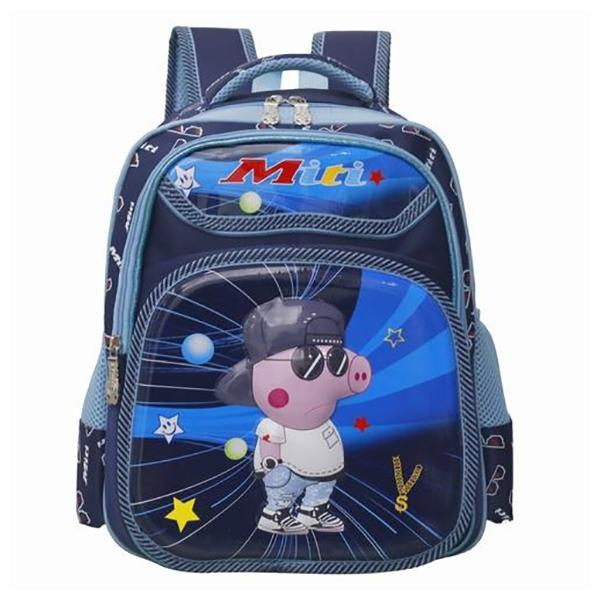 Balo Học Sinh Miti Peppa Pig BL1034M Size M - Màu Xanh
