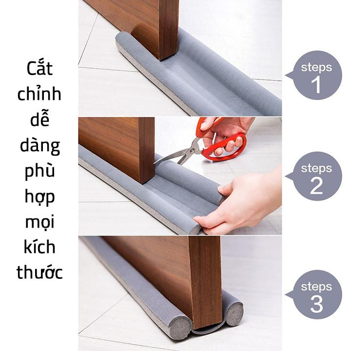 Miếng xốp bọc chân cửa chắn gió chống bụi, ngăn tiếng ồn, ngăn côn trùng 93 x 9.6cm