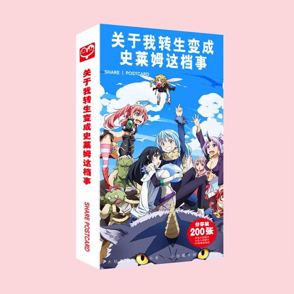 (BÌA NGẪU NHIÊN) Hộp ảnh POSTCARD mẫu mới TENSEI SHITARA SLIME DATTA KEN - CHUYỂN SINH THÀNH SLIME anime