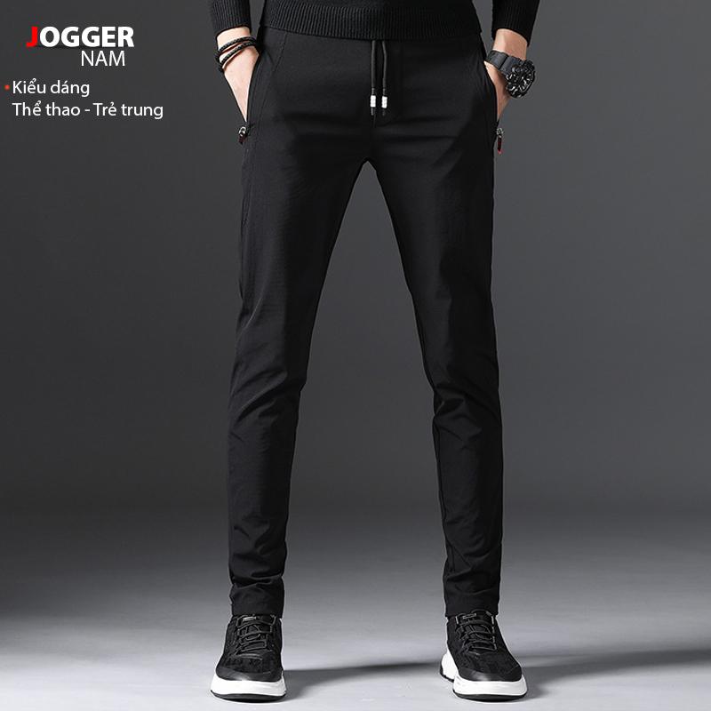 Quần thể thao nam jogger mã TT78 thể dục kiểu thun trơn bó ống Hàn Quốc đẹp ống dài