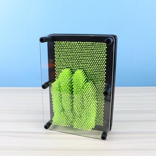 Bảng đinh 3D nghệ thuật Pinart loại lớn 20x5.5x25cm- Đồ chơi tạo hình bảng đinh nhựa an toàn cho bé, giao màu ngẫu nhiên+ Tặng kèm hình dán chiếc thuyền cho bé