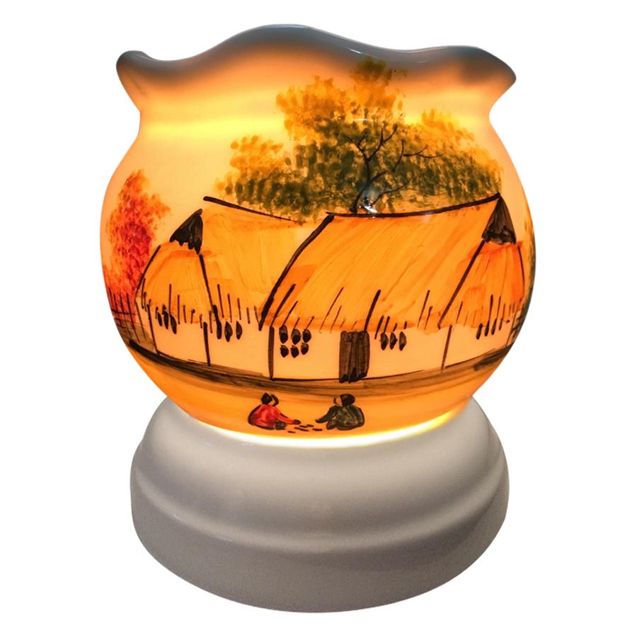 Đèn Xông Tinh Dầu Gốm AH07 (Size L) + Tặng Kèm 1 Bóng Đèn