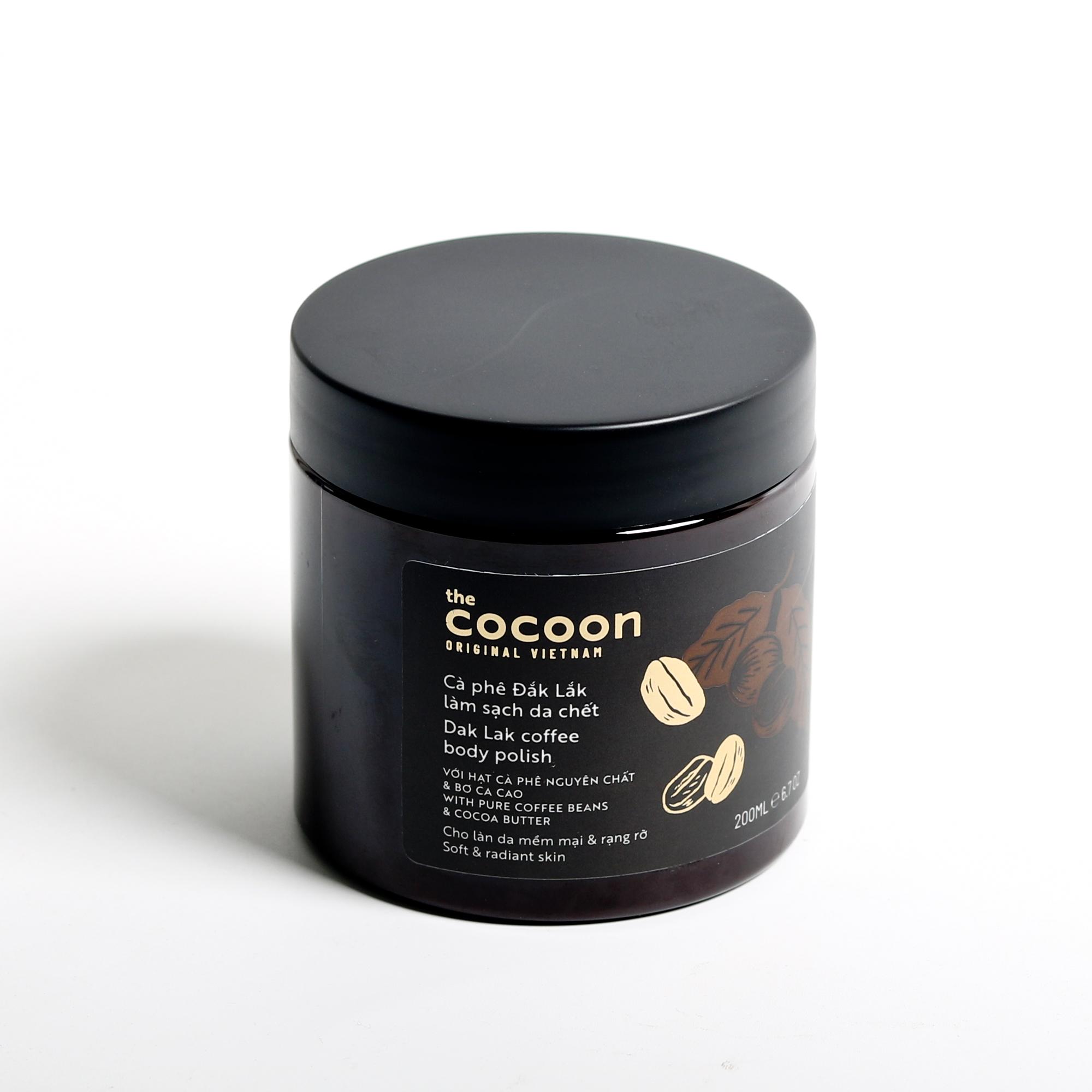 Combo Cà phê đắk lắk sạch da chết cocoon 200ml + Gel rửa mặt bí đao cocoon 140ml