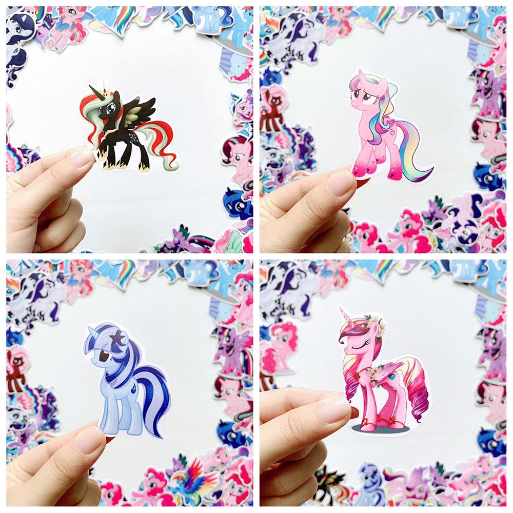 Bộ 50 Sticker Pony (2020) Hình Dán Chủ Đề Ngựa Một Sừng Chống Nước Decal Chất Lượng Cao Trang Trí Va Ly Du Lịch Xe Đạp Xe Máy Xe Điện Motor Laptop Nón Bảo Hiểm Máy Tính Học Sinh Tủ Quần Áo Nắp Lưng Điện Thoại
