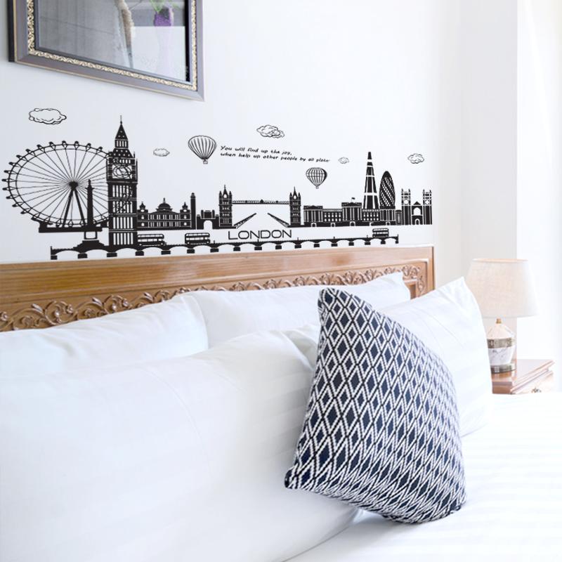 Decal Dán Tường Hình Thành Phố London     Decal Dán Tường Trang Trí Phòng Ngủ Cho Bé