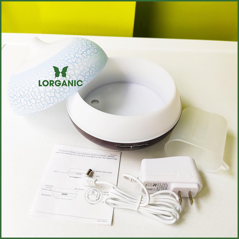 Combo máy khuếch tán/ máy xông tinh dầu Lorganic Bí Ngô FX2055 + tinh dầu bạch đàn chanh Lorganic (10ml) LGN0364/ Thích hợp xông phòng 15-40m2.
