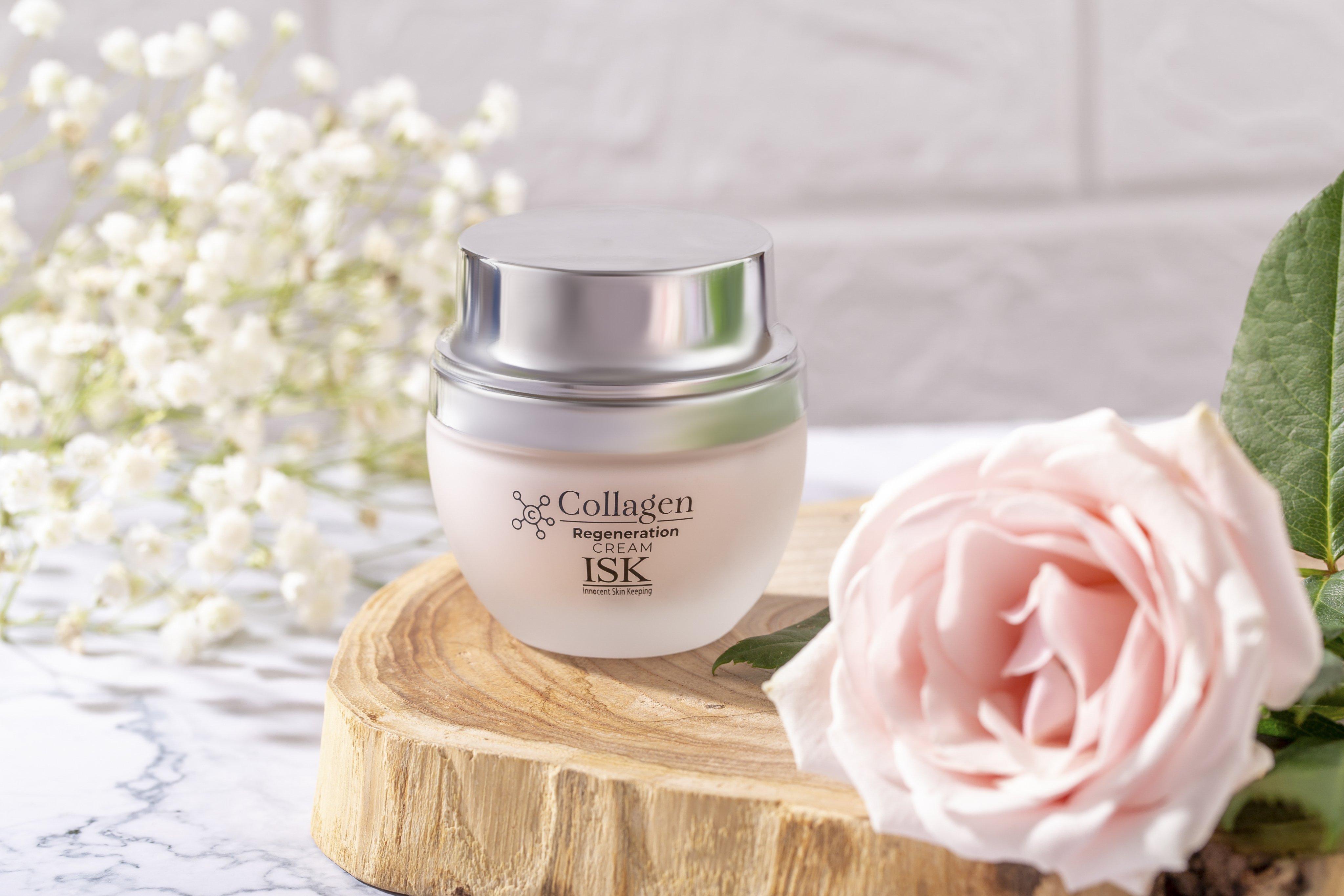 Kem dưỡng da săn chắc và làm trắng da ISK Collagen Regeneration Softner 55g - Hàn Quốc Chính Hãng