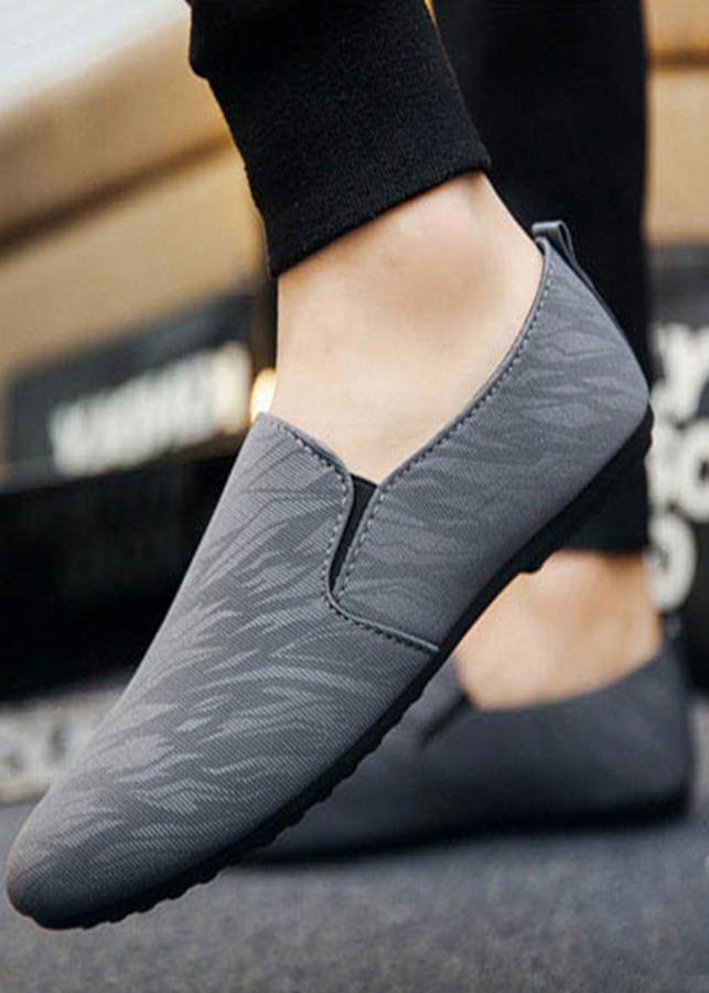Giày Lười Nam Cao Cấp Phong Cách Hàn Quốc - Màu Xám  - SV21