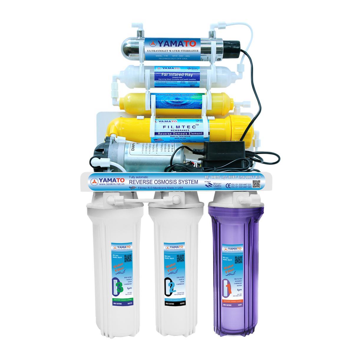 Máy lọc nước R.O YAMATO 7 cấp lọc có đèn UV - YMT-7ROXUV – Hàng chính hãng