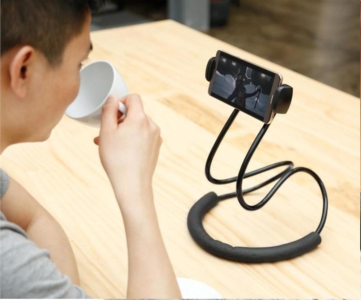 Kẹp điện thoại đa năng quàng cổ hoặc để bàn tiện dụng