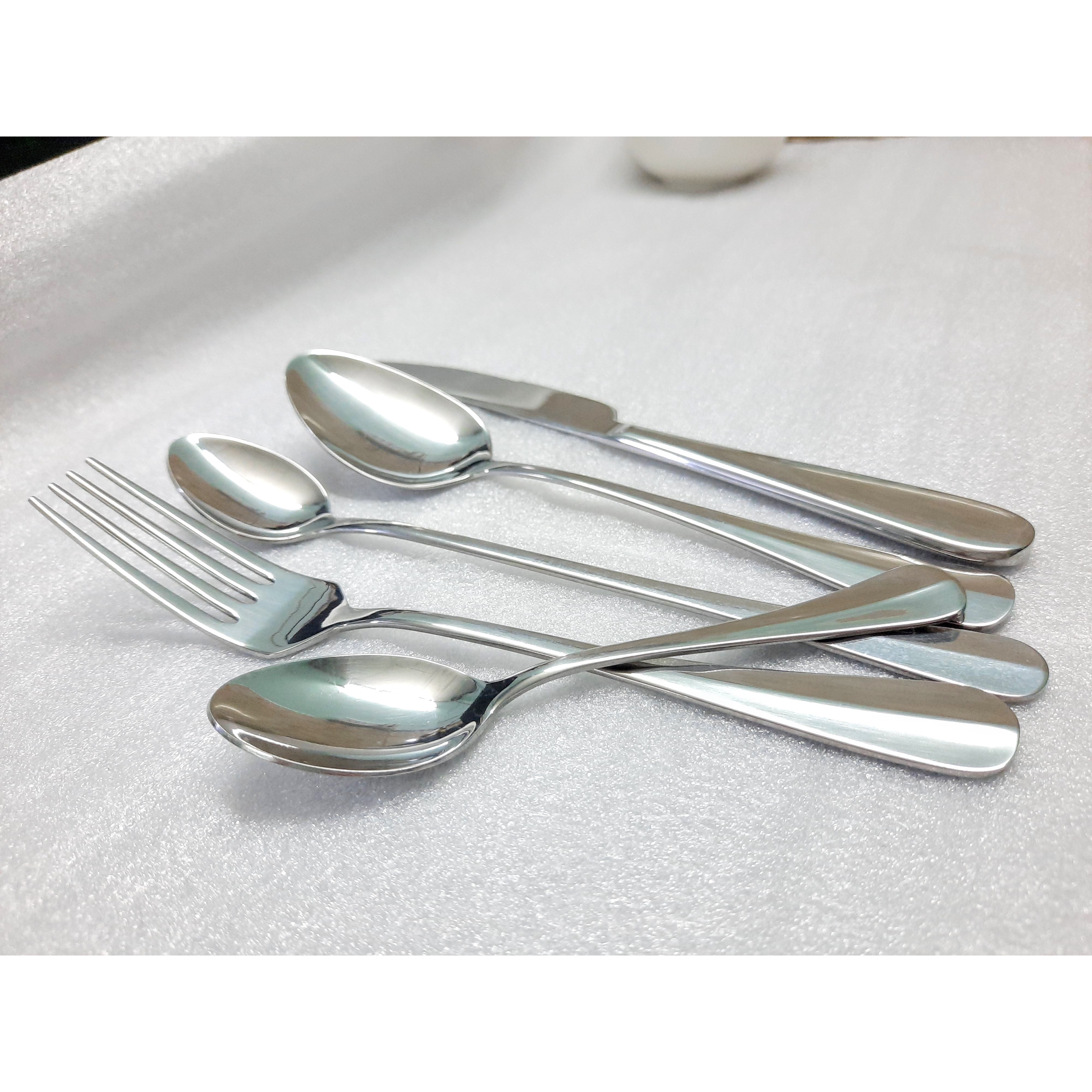 Bộ dao muỗng nĩa thiết kế gân giữa 5  cái tiện dụng
