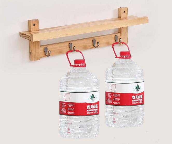 Kệ móc gỗ treo tường đa năng GG-668