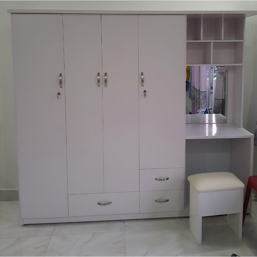 Tủ quần áo kết hợp bàn trang điểm tiện ích Juno Sofa 205 x 185 x 50 cm