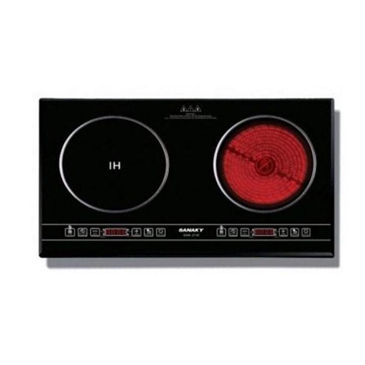 Bếp điện từ đôi - hồng ngoại Sanaky SNK-IHW40A