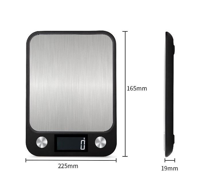 Cân điện tử nhà bếp 5kg/1g chống nước có độ chính xác cao - Tặng kèm 02 móc dán tường 3D