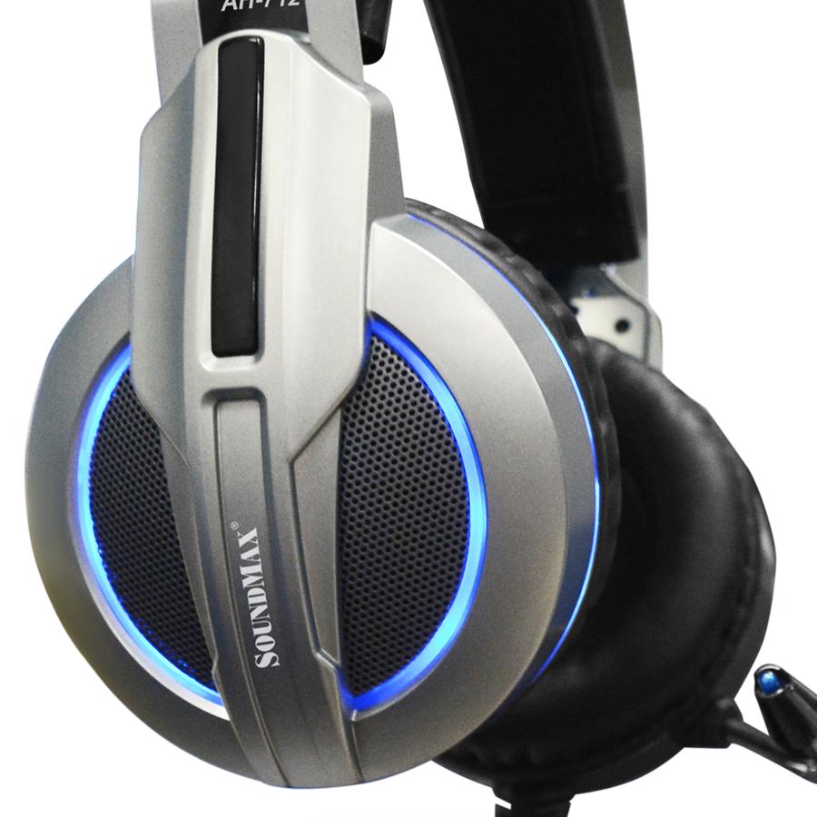 Tai Nghe Có Dây Chụp Tai Over-ear Soundmax AH712 - Hàng Chính Hãng
