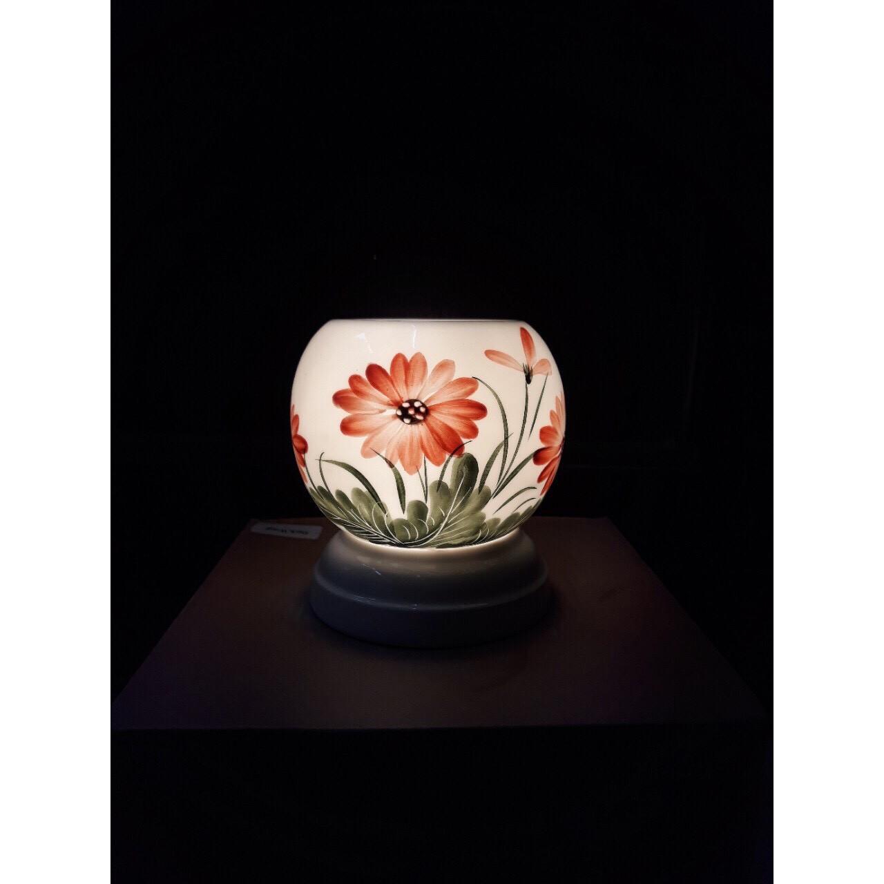 Đèn xông tinh dầu - đèn gốm sứ thấu quang