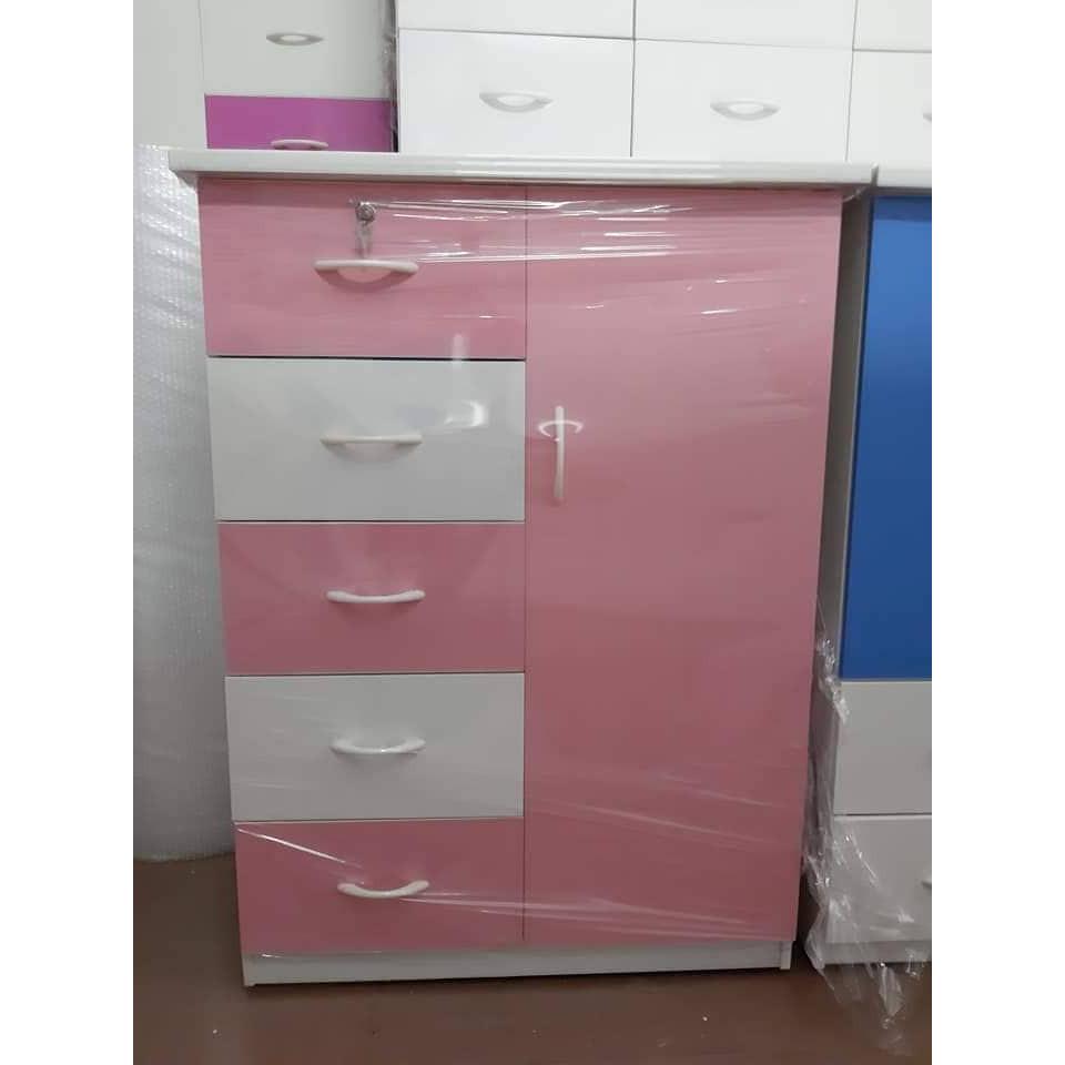 Tủ nhựa đài loan 1 cánh 5 ngăn kéo (rộng 85cm, cao 1m15, sâu 45cm)