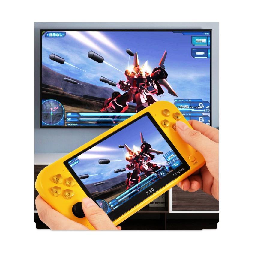Máy chơi game X20, màn hình 5.1inch chơi game PS1, NES, SNES, CPS, GBA, SEGA...có cổng HDMI, kết nối tay cầm phụ...