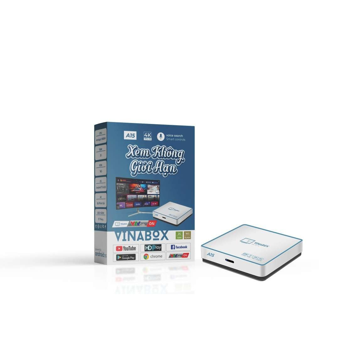 Android TiviBox Vinabox A15 Ram 2Gb Rom 16Gb - Hàng Chính Hãng