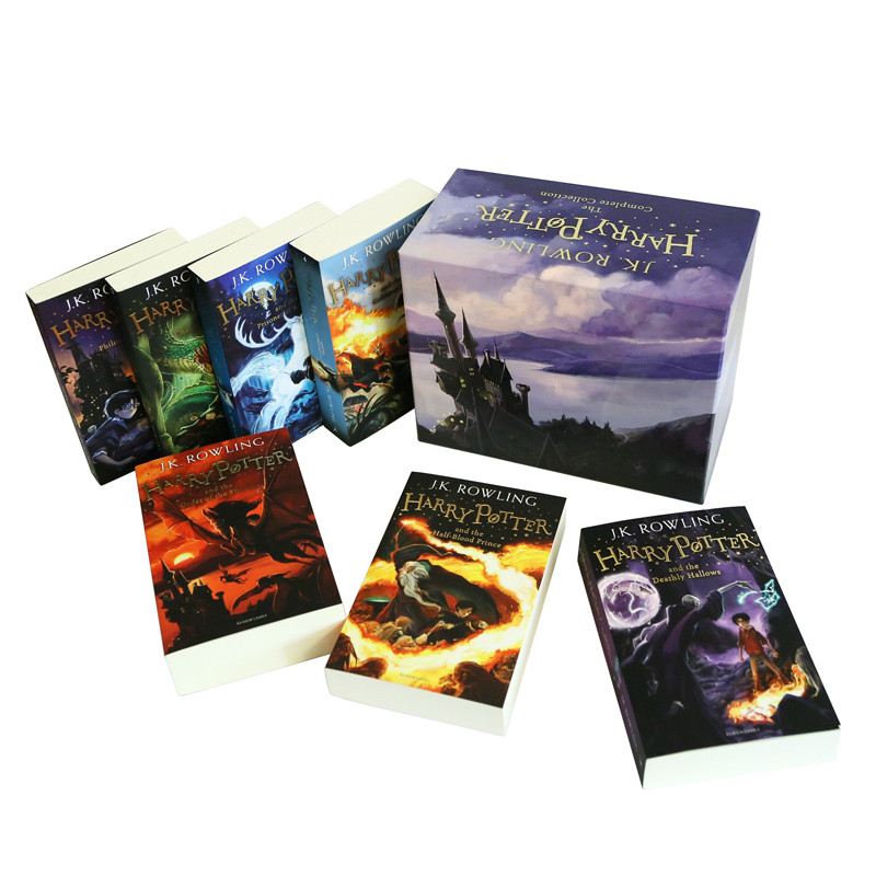 Harry Potter Box Set : Books # 1 to 7 - The Complete Collection Children - Bloomsbury UK Edition (Paperback) (English Book)