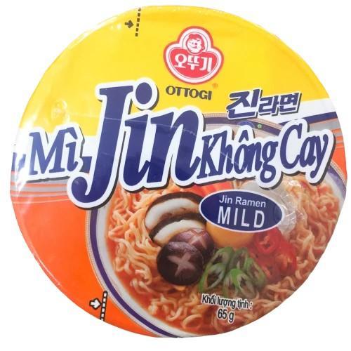 Combo 6 Ly Mì Jin Không Cay Ottogi 65g