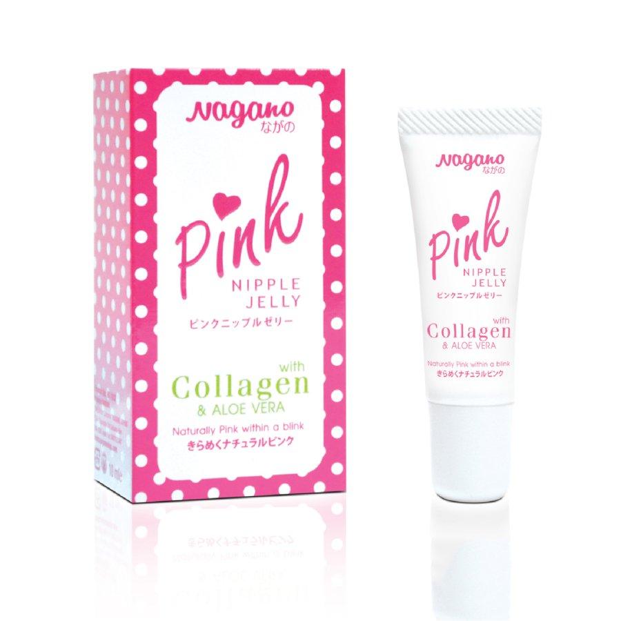 Kem Làm Hồng Nhũ Hoa Collagen Nagano Japan 10ml - Pink Nipple Jelly Nagano 10ml - Kem giữ cho nhũ hoa hồng xinh son trẻ, sáng hồng tự nhiên