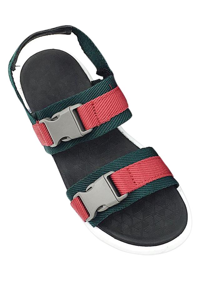 Giày Sandal Nữ SHAT THN007 - Đỏ Xanh Rêu