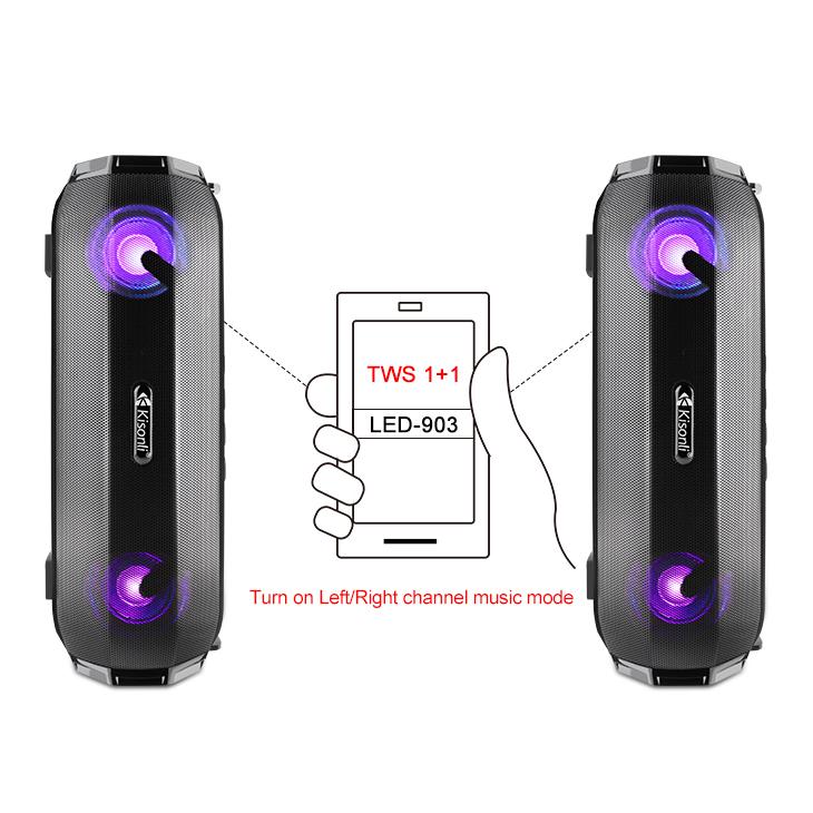 Loa Bluetooth Xách Tay Mini Kisonli LED 903( Màu Ngẫu Nhiên) - HÀNG CHÍNH HÃNG