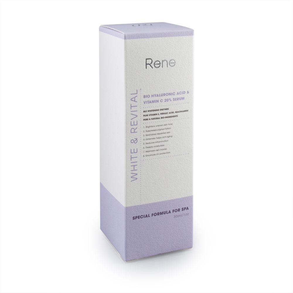 Serum Dưỡng Ẩm và Làm Trắng RENE WHITE & REVITAL Bio Hyaluronic Acid & Vitamin C 20% Serum (30ml)