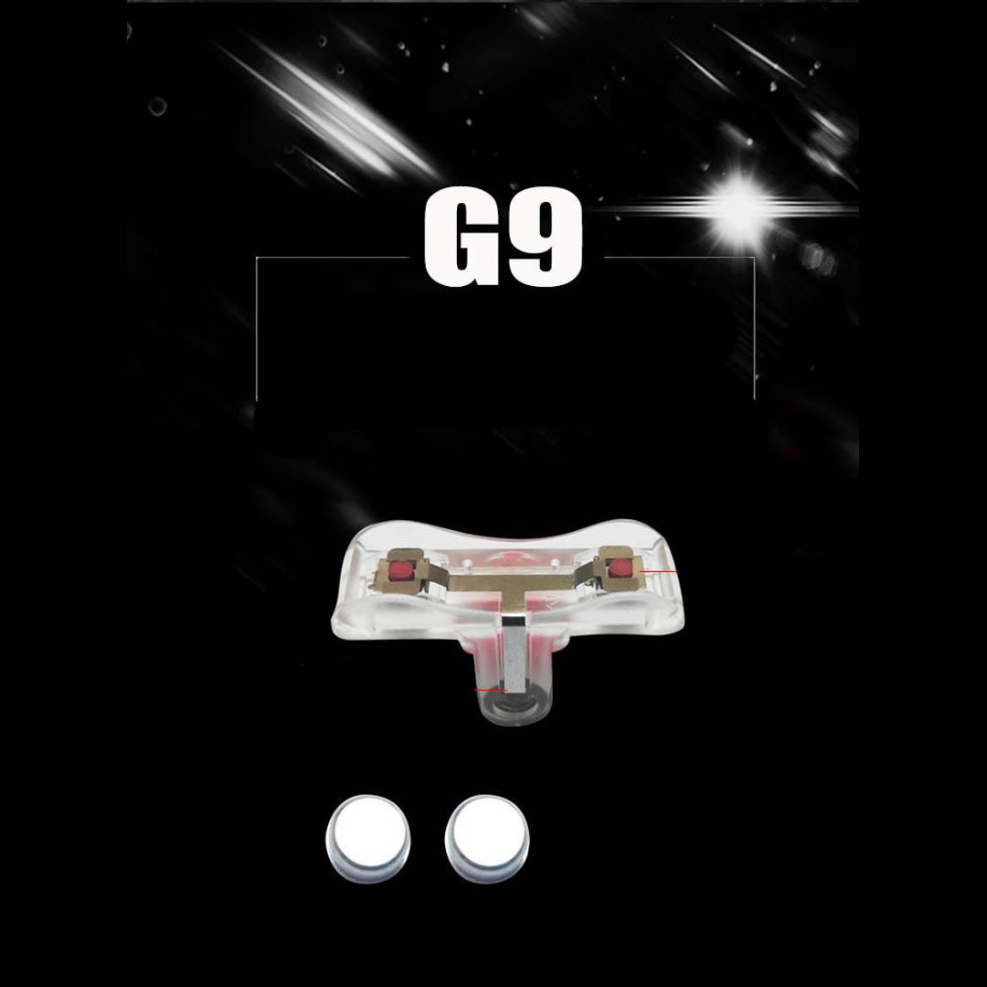 Bộ 2 nút bấm chơi game dòng G9 cảm ứng nút thép đỏ trên điện thoại phù hợp với các tựa game mobille đang hot hiện nay
