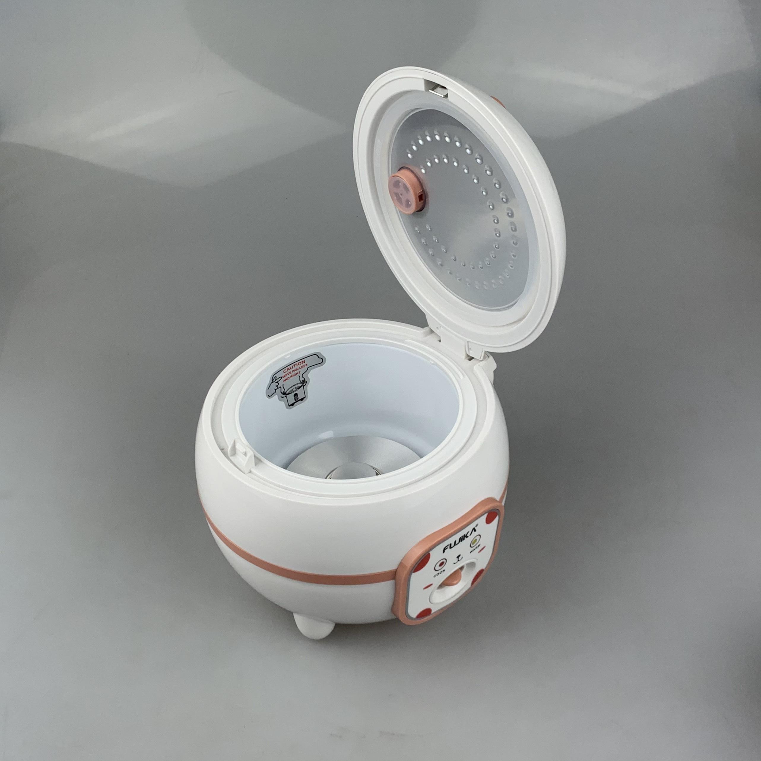 Nồi Cơm Điện 0.8L Fujika FJ-NC0608 Nắp Gài Chống Dính Tiết Kiệm Điện Cho 2-3 Người Ăn (Giao Màu Ngẫu Nhiên)-Hàng Chính Hãng