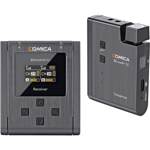 Comica BoomX-U (U1 / U2) - Bộ Micro Không Dây UHF Đa Năng, Dùng Cho Quay Phim, Phỏng Vấn, Live Stream - Hàng chính hãng