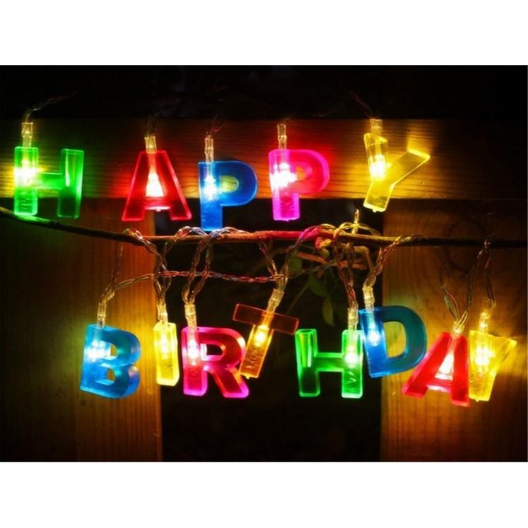 Đèn trang trí sinh nhật chữ Happy Birthday
