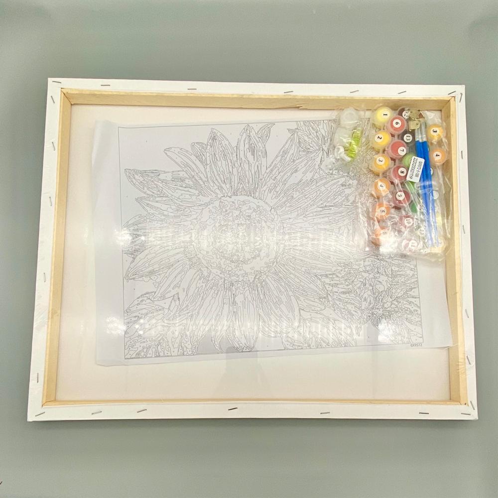 Tranh tự tô màu theo số sơn dầu số hóa Tranh 5 bông hoa HL0923