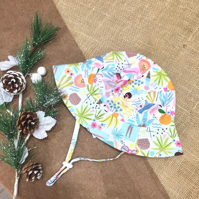 Mũ tai bèo mẫu họa tiết mùa hè summer đi biển hoa quả nhiệt đới ngộ nghĩnh dễ thương dành cho bé gái từ 0 - 12 tuổi