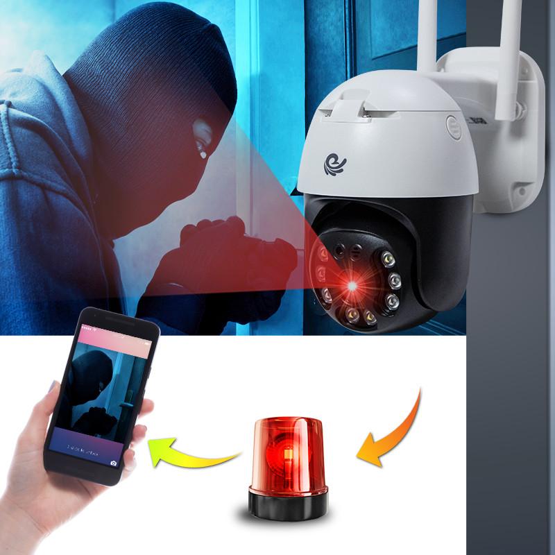 Camera Wifi Quan Sát Ngoài Trời, Model 20HS300, 3.0 FULL HD 1080 Xoay 360 Độ, Góc Nhìn Rộng, Hàng Nhập Khẩu