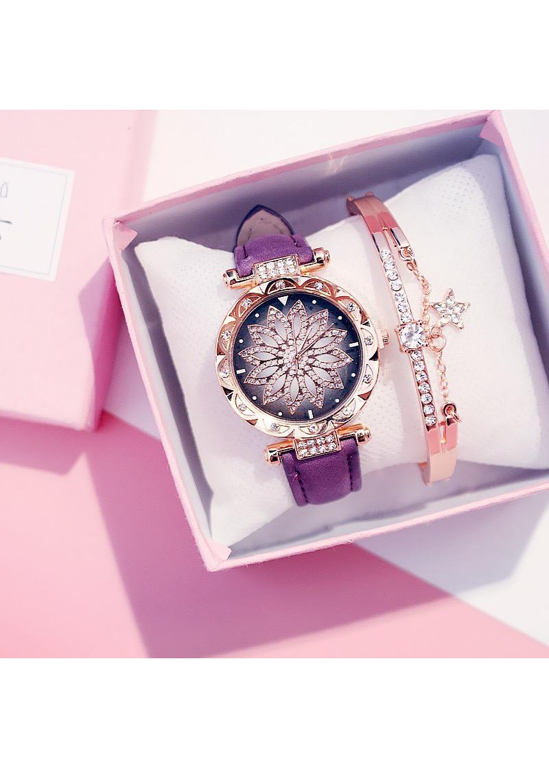 Đồng hồ dây da hamino thời trang đẹp DH26