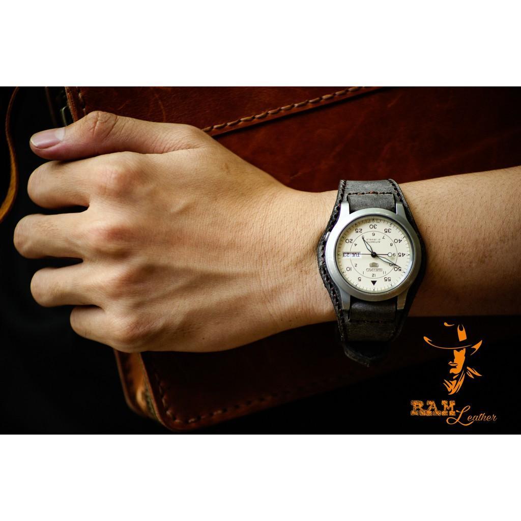 Dây đồng hồ BUNDSTRAP XÁM QUÂN ĐỘI ĐỨC -RAM BX XÁM - ĐỦ SIZE 18,20,22,CASIO